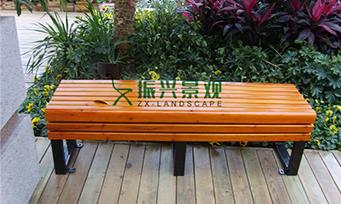 钢木无靠背休闲椅ZXY22-34