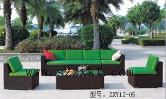 藤制套桌椅ZXY12-05