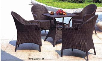 藤制套桌椅ZXY13-01
