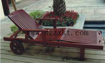 实木沙滩躺椅ZXY30-01