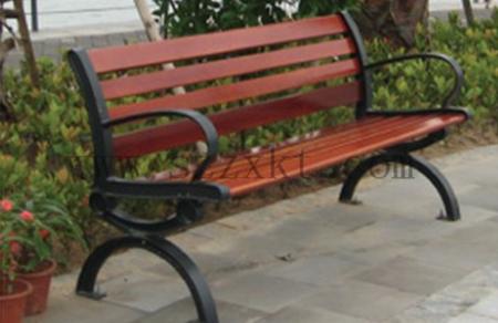 钢木靠背休闲椅