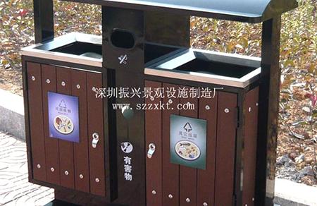 钢木分类垃圾桶案例